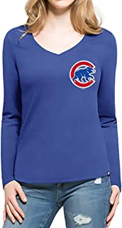 '47 Brand Women's Clutch Backer Long Sleeve Club Tee Shirt - MLB Ladies LS 2-Sided T-Shirt
