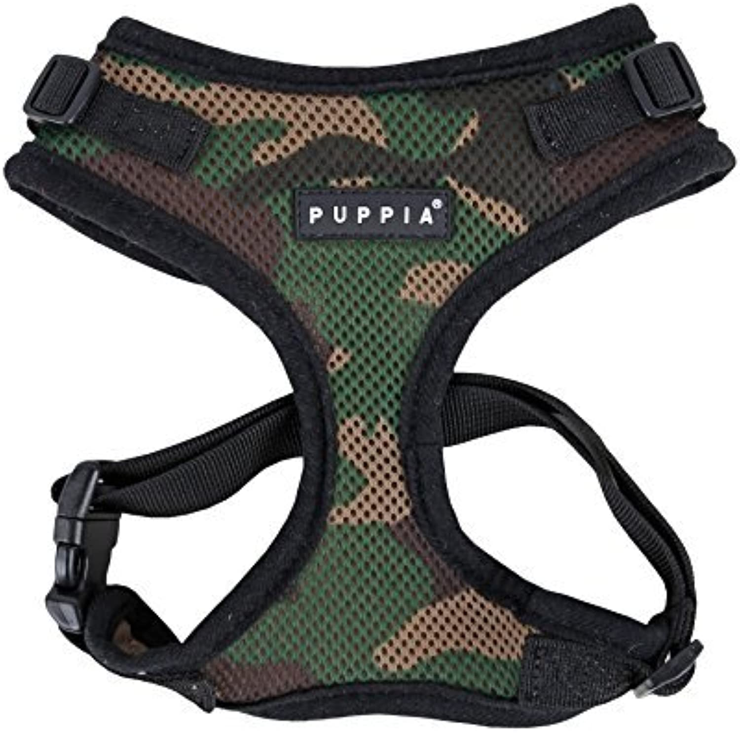 Puppia Authentic Puppia Ritefit Harness With Adjustable Neck, Camo, Small by Puppia