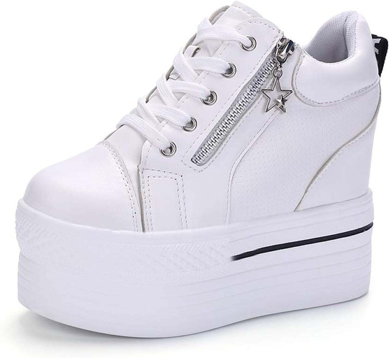 T-JULY Women Super High Platform Pumps Spring Ladies White Sneakers Autumn shoes Pumps Woman Vulcanized shoes