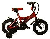 Umit J1250 Bicicleta Infantil, Niños, Rojo/Negro, 12'