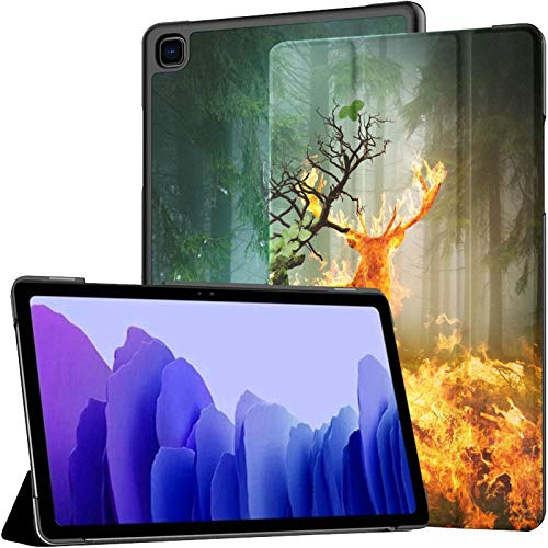 Mystical Fire And Water Deer Samsung Tablet Case Galaxy Tab A7 10.4 Inch Galaxy Tab A7 Case Tablet With Case With Auto Wake/sleep Fit Galaxy Tab A Cases For Galaxy Tab A7 Sm-t500/t505/t507