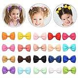 BoloShine Haarspange Haarschleifen, 20 Stück Ripsband Bögen Haarspangen Haarclips Haarklammern Alligator Clip Baby Krokodilklemmen für Mädchen Kinder