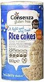 Consenza Reiswaffeln ohne Salz Glutenfrei, 8er Pack (8x 100 g) -