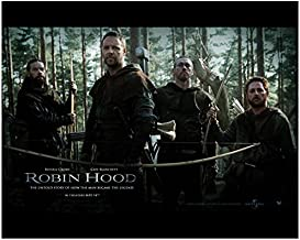 Robin Hood Alan Doyle as Allan Russell Crowe as Robin Longstride Kevin Durand as Little John and Scott Grimes as Will 8 x 10 Inch Photo