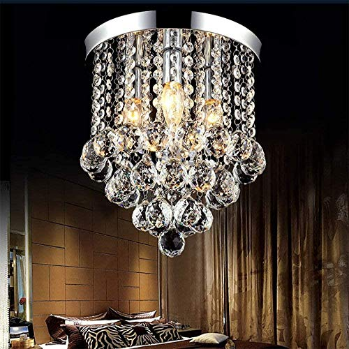 Crystal Chandelier LED plafond lamp armatuur Hanglampen for Living Room slaapkamer Flush Plafondmontage (beschikbaar in verschillende maten), C, Grootte: D (Size : C)