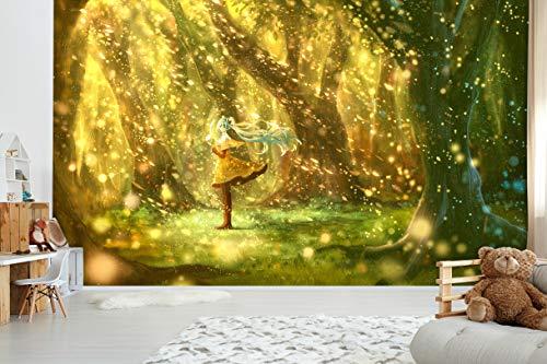 Papel pintado 3D Girl Jungle 256 Japón Anime Game Mural de pared extraíble | Papel pintado autoadhesivo grande del Reino Unido (sin pegamento ni extraíble), 312 x 219 cm (ancho x alto).