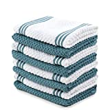 Sticky Toffee Cotton Terry Kitchen Dishcloth Towels, 8 Pack, 12 in x...