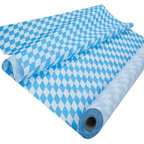 Sensalux Tischdeckenrolle, stoffähnliches Vlies, Standard 100 by Oeko-TEX® - Klasse I Zertifiziert, 1,20m x 25m, Bayern