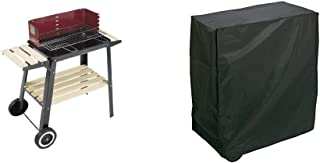 Grill Chef 0566 Barbacoa con Ruedas (54,33 cm) + Algon AA237 Funda, Apta para barbacoas rectangulares, 80 x 47 x 84 cm