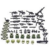 DAN DISCOUNTS Militär Minifigur Set, Militär Armee Waffen und Zubehör Set, Soldaten Figuren Militärblock Bauspielzeug Kompatibel mit Lego Figuren, Bausteine Spielzeug für Kinder Jungen