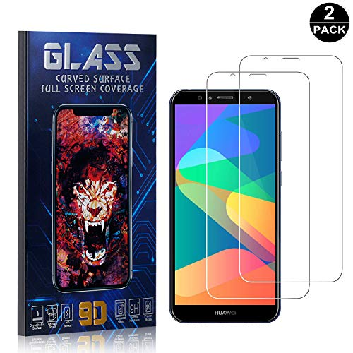 Bear Village Screen Protector for Huawei Honor 7A, Scratch Resistant 9H Hardness, Ultra Thin Tempered Glass Screen Protector Film for Huawei Honor 7A, 2 Pack