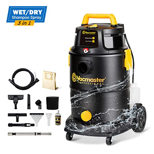 %13 OFF! Vacmaster Wet Dry Shampoo Vacuum Cleaner 3 in 1 Portable Carpet Cleaner 8 Gallon 5.5 Peak H...