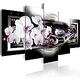 murando Akustikbild Blumen Galaxy 225x112 cm Bilder Hochleistungsschallabsorber Schallschutz Leinwand Akustikdämmung 5 TLG Wandbild Raumakustik Schalldämmung b-A-0046-b-n
