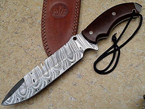 Asaz Custom Damast Bowie Messer Tracker Jagdmesser Mit Lederscheide
