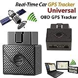 Rastreador GPS para coche, dispositivo de seguimiento personal OBD-2 en tiempo real con mapa de Google, actualización de ubicación portátil con aplicación para smartphone