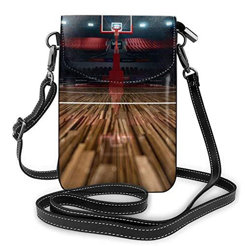 Crossbody - Bolso de mano para teléfono celular, diseño de baloncesto