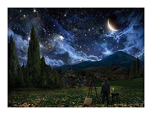 JCXOZ World Famous Oil Painting Jigsaw Puzzle -Van Gogh's Starry Sky - 300/500/1000 Piece Every Piece is Unique, Fit Together Perfectly Wooden (Size : 1000pcs)