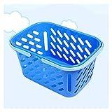 MHXY Aufbewahrungskorb Warenkorb Tragbare Kinder Lebensmittelkorb mit Griff für Kinder Kinder Küche Talend Spiel Spielzeug (zufällige Farbe) faltbar (Color : As Shown, Size : S)