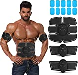 SJNDY Abs Stimulating Belt- Abdominal Toner-Training Device for Muscles- Wireless Portable to-Go Gym...