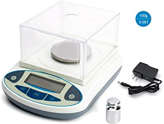 Wellish High Precision 100g/0.001g Lab Digital Analytical Electronic Balance Jewelry Scale Laboratory Accuracy Weight Scales Kitchen Precision lab Scale Kitchen Precision Weighing Electronic Scales