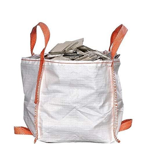Mini Big Bag 45x45x45cm| Traglast bis 500kg | Einfache Handhabung Bodenschlaufen | 10er-Pack
