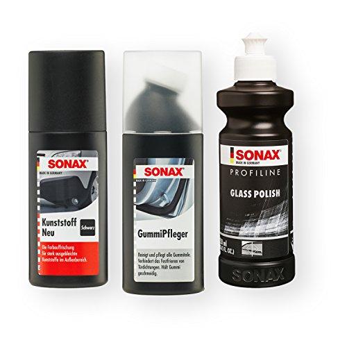 SONAX ProfiLine GlasPolitur Glass Polish Gummipfleger Autopflege KunststoffNeu