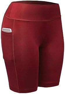 KIKOY Women's High Waist Yoga Pants with Pockets Tummy Sports Solid Shorts Pants