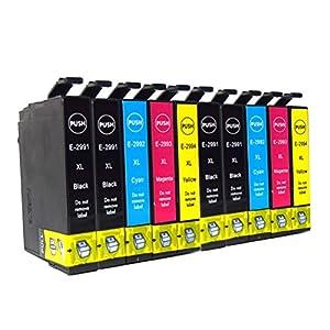 Ouguan - 10x Cartuchos de tinta compatibles con Epson 29XL 29 para impresoras Epson Expression Home XP-342 XP-245 XP-442 XP-235 XP-335 XP-432 XP-435 XP-332 XP-345 XP-247 XP-445