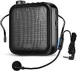 APROTII Mini Amplificador de Voz, Portátil Altavoz con Micrófono Alámbrico Auriculares 2000mAh Batería Incorporada para Enseñanza, Conferencia y Actividades al Aire Libre