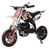 X-PRO Zephyr 40cc Mini Dirt Bike Pit Bike Dirt Bikes Gas Power Bike Off Road Motorcycle(Red)