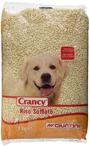 Crancy Set Cane Riso Soffiato kg 1 Cibo per Cani, Multicolore, Unica