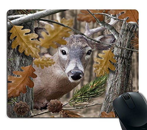 Smooffly Gaming Mouse Pad Custom,Wild Deer Forest Non-Slip Thick Rubber Large Mousepad