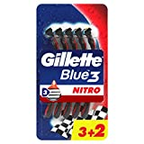 Gillette Sensor3 Nitro Rasoi Uomo Usa e Getta, Confezione da 5 Rasoi di cui 2 Gratis...