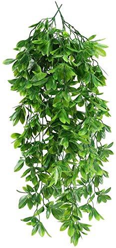 NAHUAA 2pcs Hängepflanze Künstlich Efeu Kunstpflanze Hängend Künstliche Pflanzen Grüne Plastikpflanzen Unechte Pflanze für Topf Draußen Balkon Garten Hochzeit Wand Deko 80cm
