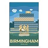 ASFGH England Vintage Reise-Poster Birmingham Dekor