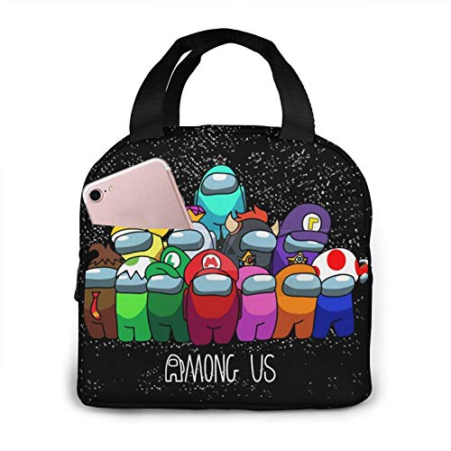 Among Us Lunch Bags For Men Women, Insulated Durable Lunch Box, Cooler Bag For Work School Picnic Travel Beach
