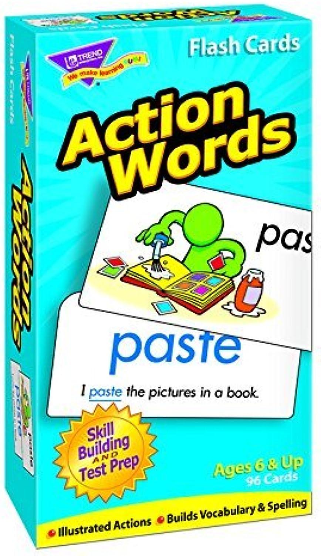 Trend Enterprises INC. Flash Cards Action Words 96 Box (Set of 3)