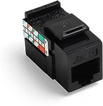 Leviton 5G108-AE5 Cat 5e 8-Wire QuickPort Adaptor Jack, Black, 10-Pack