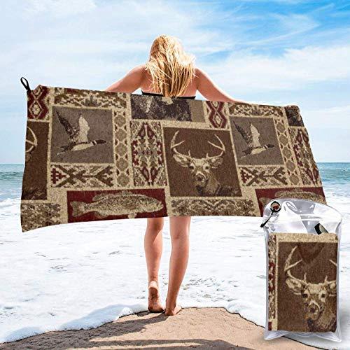 shenguang Moose Bear Deer Printed Travel Quick Dry Bath Towels Sports Gym Microfiber Beach Towels Camping Swimming Compact Towel