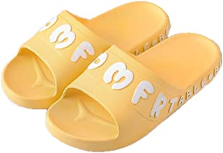 YAXY Creativity Lady Woman's Man's House Indoor & Outdoor Durable Slippers Casual Shoes Light Weight Anti-Slip Massage Shower Bath Pool Gym Slides Flip Flop Open Toe Comfortable Soft Sandals