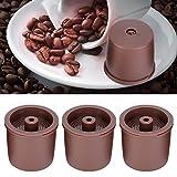 Cápsula de café, 5pcs/Set Cápsulas de café recargables reutilizables de plástico Colador de tazas de filtro de cápsula