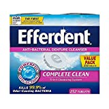 Efferdent Denture Cleanser Tablets, Complete Clean, Tablets, Multicolor, 252 Count
