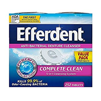 Efferdent Denture Cleanser Tablets Complete Clean Tablets Multicolor 252 Count