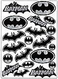 Biomar Labs Set (20 stück) Vinyl Aufkleber Autoaufkleber Stickers Batman Silber Schwarz Logo Bat Sign Emblem Auto Moto Motorrad Fahrrad Scooter Fenster D 60