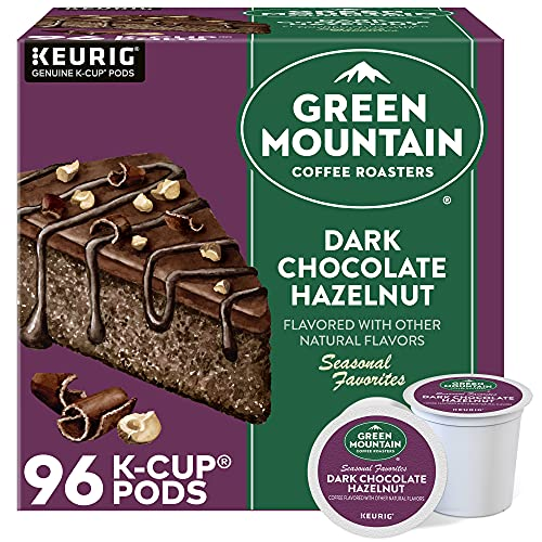 Green Mountain Coffee Roasters Dark Chocolate Hazelnut Coffee, Keurig Single Serve K-Cup Pods, 96 Count