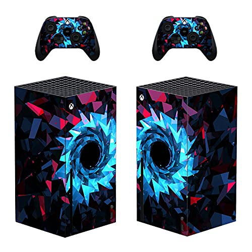 AXDNH Piel para Consola De Juegos Xbox Series X, Pegatinas De Cubierta De Calcomanías para Accesorios De Consola Xbox Series X Y Película Protectora De Pegatina De PVC para Controlador,0494