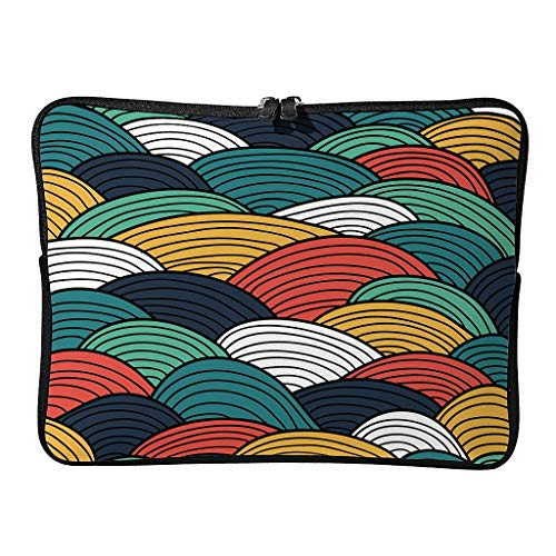 5 Sizes Colorful Line Art Laptop Bags Patterns Lightweight - Modern Art Tablet Sleeve Suitable for Work white2 13 Zoll