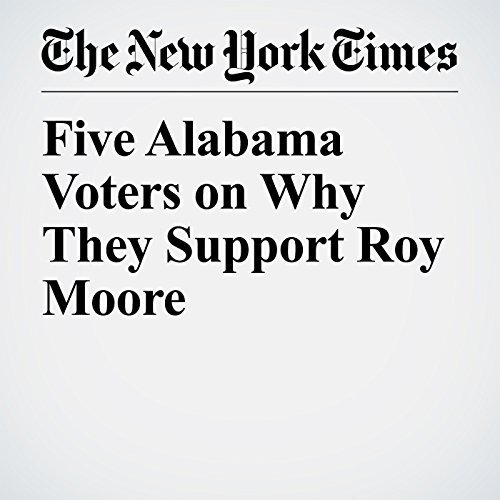 Five Alabama Voters on Why They Support Roy Moore copertina