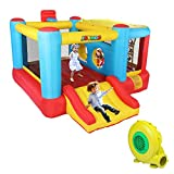 JOYMOR Inflatable Bounce House Jumping Castle Slide Bouncer Kids Party Gift with Air Blower, Sun Cover (10' x 10')