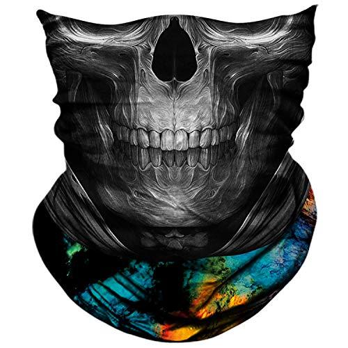 AXBXCX Skull Skeleton Outdoor Face Mask Neck Gaiter Bandana - Microfiber Polyester Seamless Headwear Dust Music Festivals Raves Ski Motorcycle Snowboard Hiking Halloween Party Ghost Mask 089
